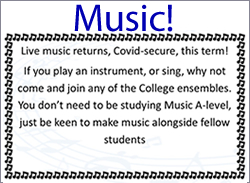 Music opportunity 2021
